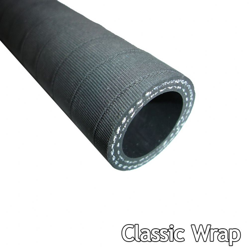 9.5mm Straight Silicone Hose Classic Black Finish from 10cm